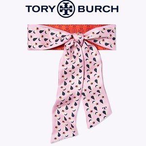 Tory Burch Heart Silk Necktie